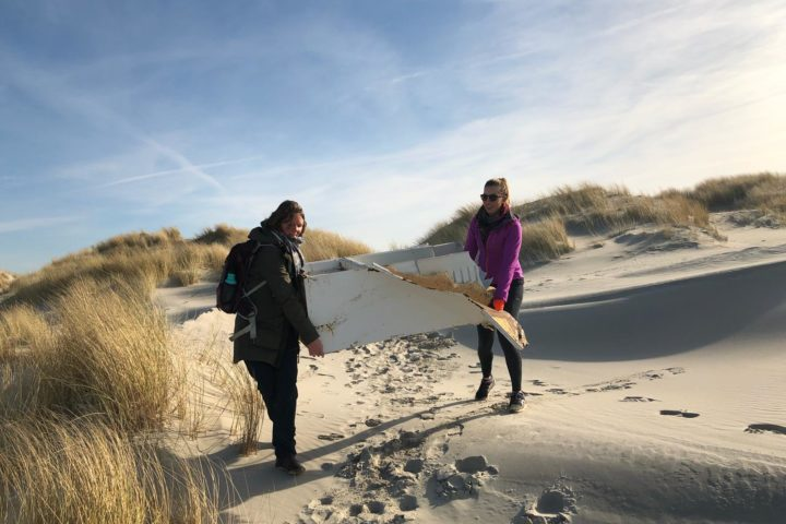 Beach clean up Terschelling Fridge