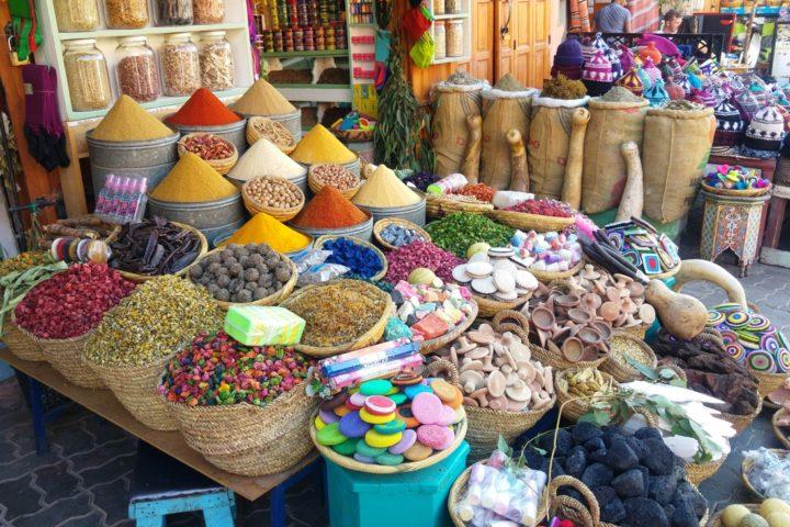 Colorful market marrakech