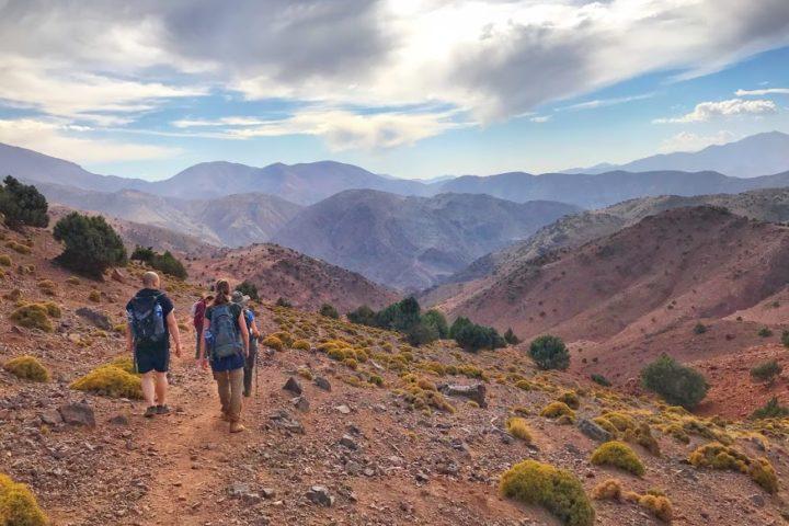 High atlas mountain trail