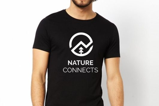 Nature Connects t-shirt black