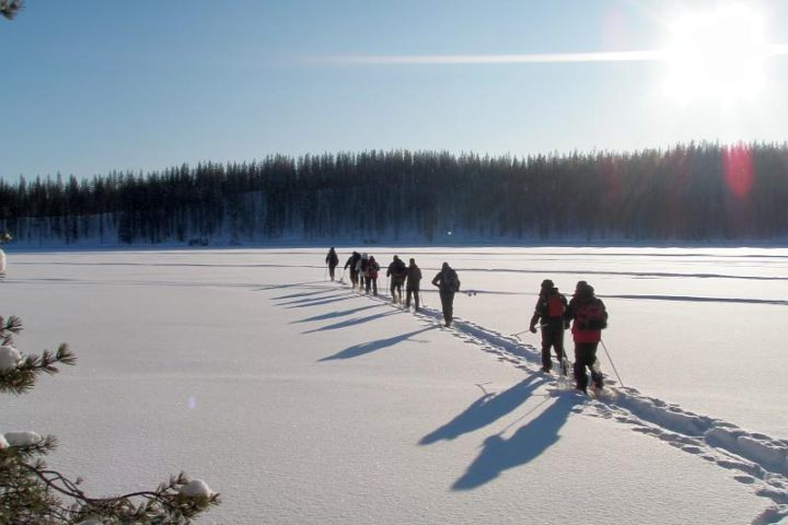 Snowshoe walk Finland