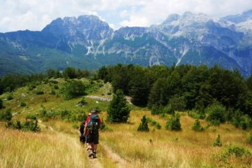 The trail Albania