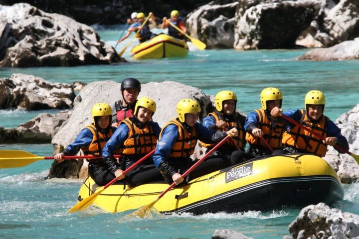 rafting on the Soca
