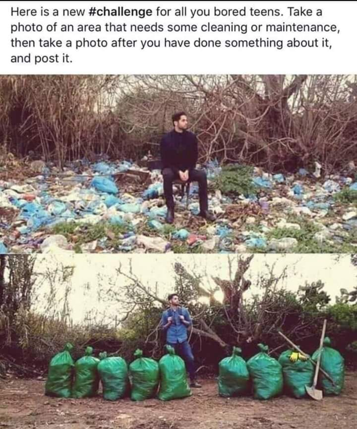#trashtag challenge Here is a new challenge for all you bored teens